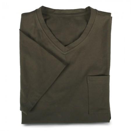 V-Shirt 7110 dunkelgrün