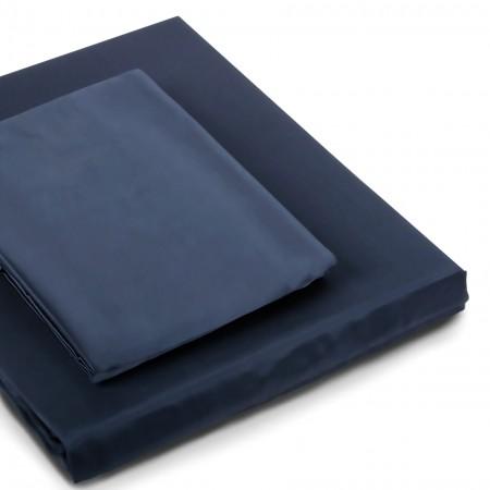 Seiden Bettwäsche navy-blue